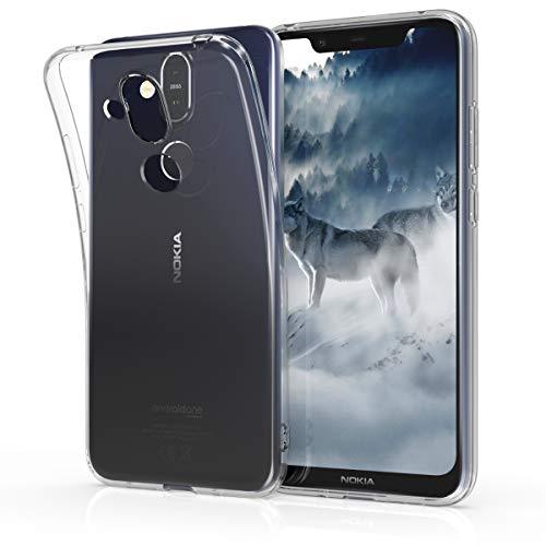 kwmobile Hülle kompatibel mit Nokia 8.1 (2018) / X7 - Hülle Handy - Handyhülle in Transparent