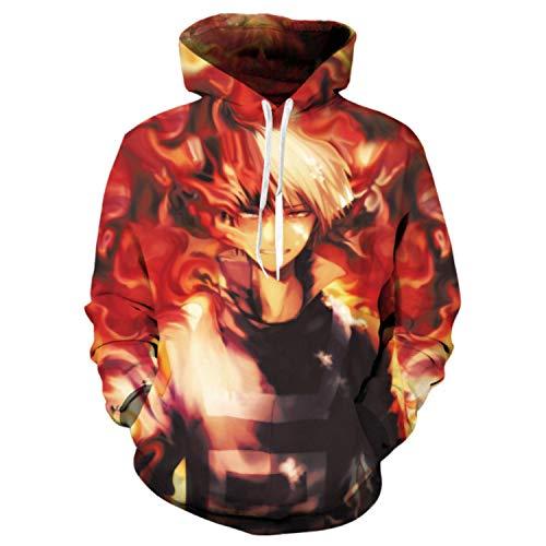 Einson Anime Streetwear Boku No My Hero Academia Cosplay Costumes Hoodies Sweatshirts Izuku Todoroki Shoto Spring / Autumn Men M
