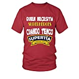 TEEZILY Camiseta Hombre EDICIÓN Limitada - Supertía - Rojo - 5XL