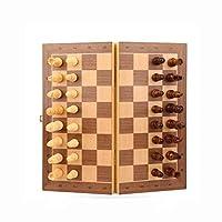 チェス磁気チェス、無垢材のチェスセット、折りたたみ式チェス盤、ハイエンドのポータブルチェス、適切なお祝いの贈り物クリスマスチェスチェス盤 Happy house