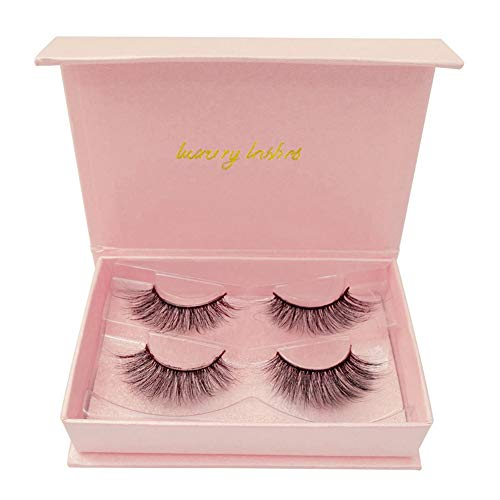 Kybbe 3D False Eyelashes Natural 2 Pairs Soft Handmade Eye Lashes Set Makeup
