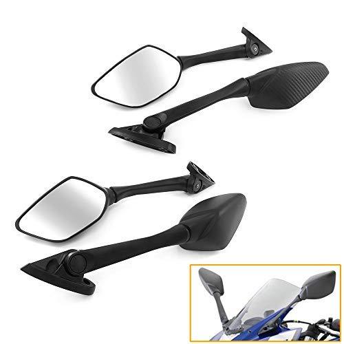 QIDIAN - Espejos retrovisores para motocicleta con soporte de GPS para teléfono...