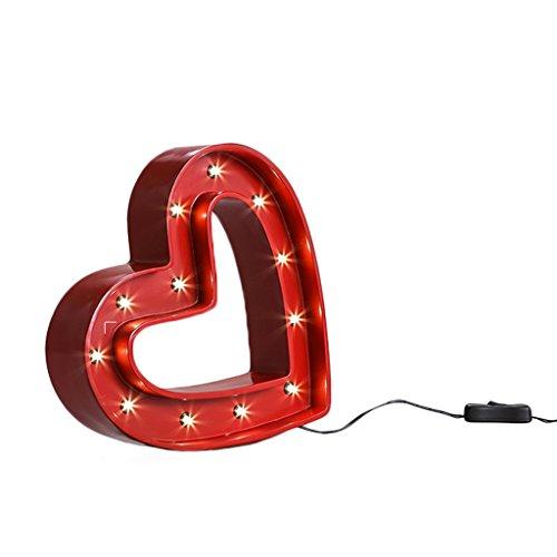 LED-Liebes-Schreibtisch-Lampe SYAODU Retro Nostalgische Art 70 Jahre Schlafzimmer-Studie Bar Kaffee-Geschäft Dekoration-Beleuchtung AC110-240V Valentinstag-Dating-Geschenk