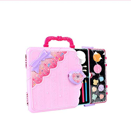 3 in 1 Children's Light Painting Board Girl Makeup Box Multifunctional Portable Toy Sticker Game Painting Toy Birthday Gift