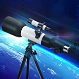 Lucario Kids Telescope 360/60 mm Kids Astronomical Telescope, with Tripod Professional Telescope for Kids Beginner Telescope