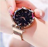 Relógio Ceu Estrelado Feminino Fecho Magnético Fashion Lux (ROSE GOLD)