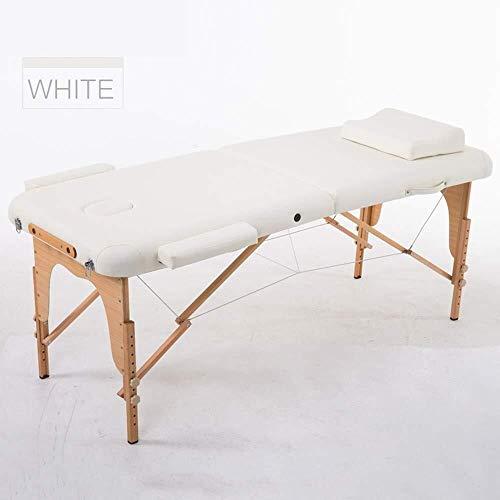 YouYou-YC massagebed, opvouwbare cosmetische behandeling bed acupunctuur massage bed met gebogen hoofdsteun en houten poten massage tafel