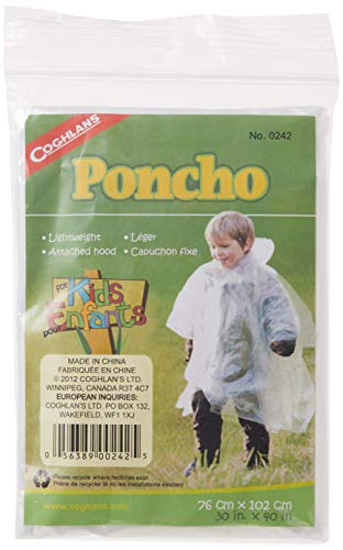 Coghlan's Poncho For Kids, White