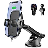 [2021 Upgraded] 15W Fast Wireless Car Charger Mount, Auto-Clamping Car Qi Charging Mount, Apps2Car Dash Windshield Air Vent Car Charger Holder for iPhone, Samsung, LG, Most Qi Enabled Phones(4-6.5')