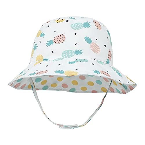 iSunday Sombrero de pescador para niños, unisex, ala ancha, protección solar, doble cara, reversible