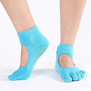Studyset Women Yoga Toe Socks Quick-Dry Anti-Slip Cushioning Pilates Ballet Cotton Socks 1Pairs