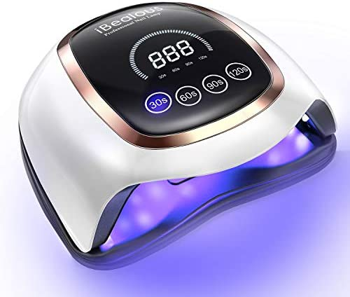 UV LED Nail Lamp iBealous 168W Professional Fast Gel Nail Polish Dryer Curing Lamp for Gel Polish product image