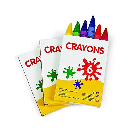 Fun Express Crayons (48 boxes of 6 colors) Bulk School and Arts Supplies