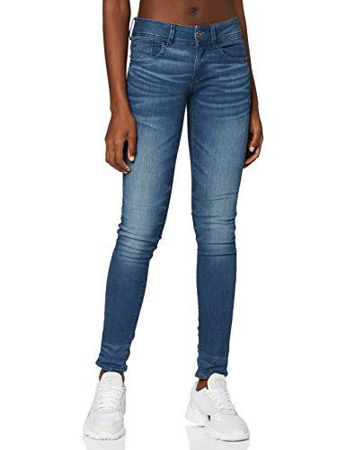 G-STAR RAW Damen Jeans Lynn Mid Waist Skinny Jeans, Blau (Medium Aged 6550-071), 29W / 34L