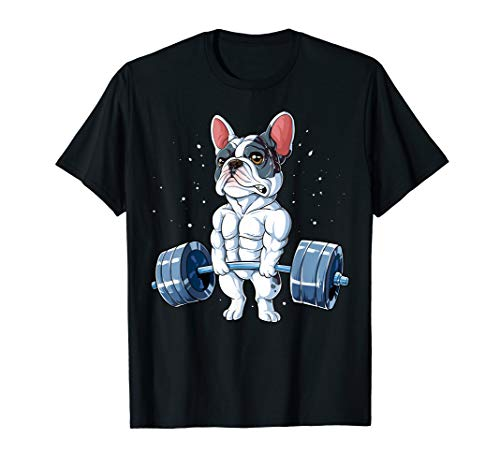 French Bulldog Weightlifting Funny Deadlift Men Fitness Gym T-Shirt
