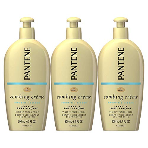 Pantene Combing Cream, Pro-V Smooth Nutrient Boost, Tame Frizz and Block Humidity, 6.7 Fl Oz, Triple Pack