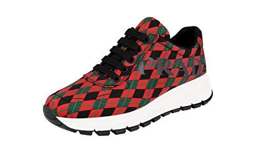 Prada Damen Rot Nylon Sneaker 1E552L 36 EU