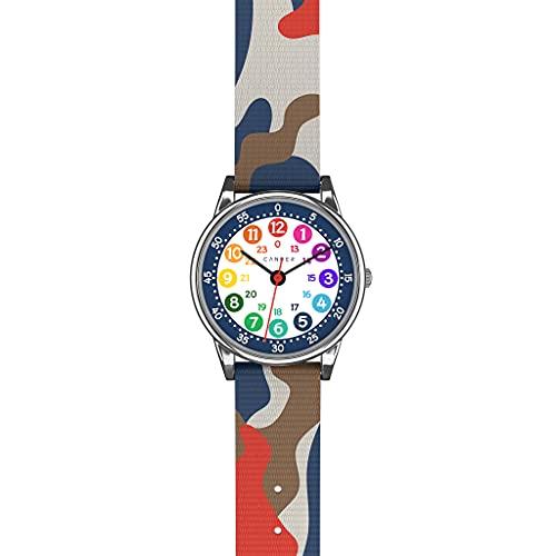 Cander Berlin MNA 1230 H - Reloj de pulsera para niños, diseño de camuflaje, color azul