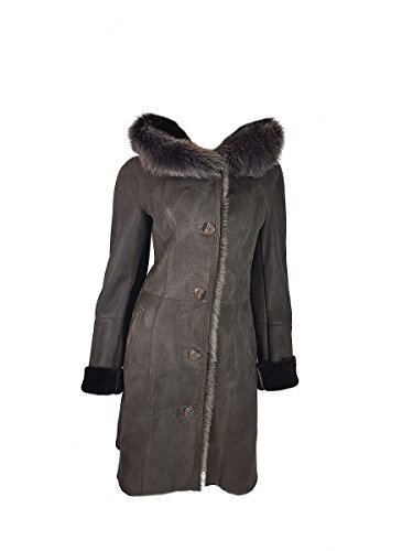 DX Leather Products -  Cappotto - Donna Marrone Scuro Medium