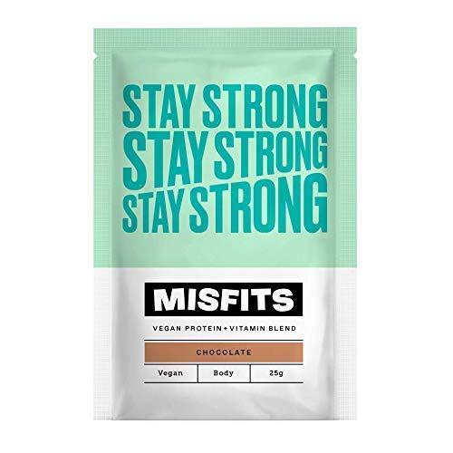 Misfits Vegan Protein Powder - Stay Strong Chocolate (10 x 25g Sachets)