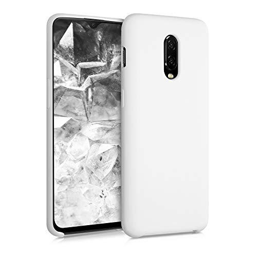 kwmobile Cover Compatibile con OnePlus 6T - Custodia in Silicone TPU - Back Case Protezione Cellulare Bianco