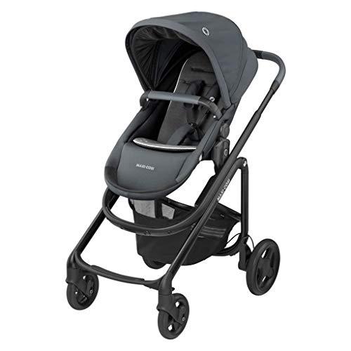 Maxi-Cosi Lila CP Komfortabler Buggy-Kinderwagen, zusammenklappbar, 6 Monate bis 4 Jahre, 0-22 kg, Essential Graphite (grau)