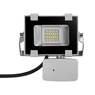 Viugreum LED Floodlight with PIR Sensor 110V Grey Diecast Aluminium Body Waterproof 10W 20W 30W 50W 100W