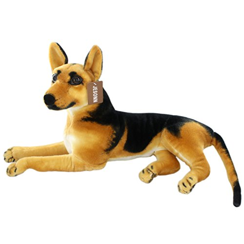 JESONN Realistic Stuffed Animals German Dog Shepherd Plush Toys (23.6 Inch)