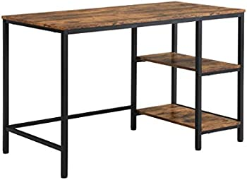 Indefree 47 Inch Study Writing Desk with Storage Shelves
