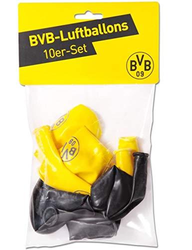 Borussia Dortmund Luftballons (10er-Set) - plus gratis Aufkleber forever Dortmund