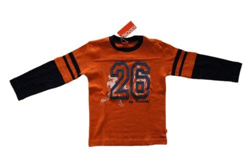 Kidoki Jungen - Langarmshirt Baseballshirt Orange Größe 104/110