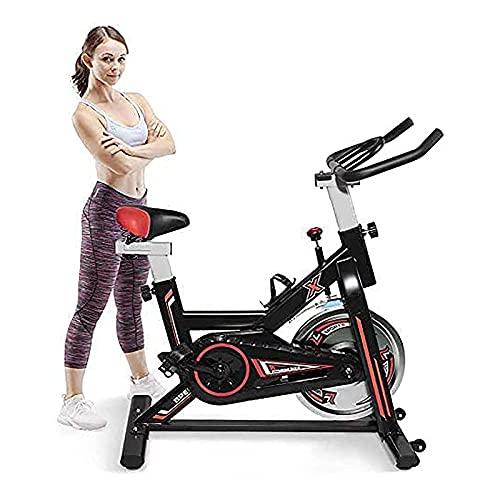WASDY Bicicleta de Ejercicio de Lujo para Uso doméstico con Resistencia magnética, Capacidad de Peso de 350 Libras, Bicicleta de Ciclismo Interior, para Hombres, Mujeres y Personas Mayores