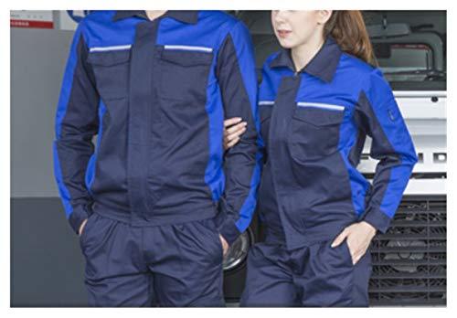 Bfrdollf Ropa de Trabajo Ropa de Trabajo Hombres Mujeres Trabajo Chaqueta Taller Coche Condición de Aire Agua Electricidad Instalación Reparador mecánico Uniformes Tops (Color : Black, Size : Medium)