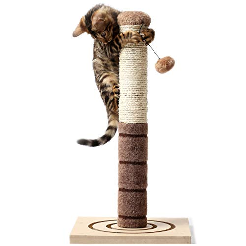 <br /> 4 Paws Stuff Tall Cat Scratching Post