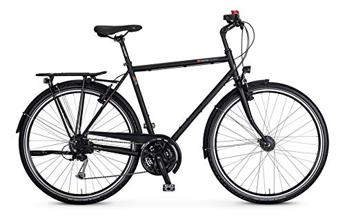 "vsf fahrradmanufaktur T-100 Shimano Alivio 27-G V-Brake Trekking Bike 2021 (28\"" Herren Diamant 57cm, Ebony Matt (Herren))"