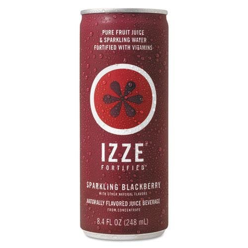 IZZE 15023 Limited time for free shipping Fortified Sparkling 4 years warranty Juice 8.4 24 Blackberry Can oz