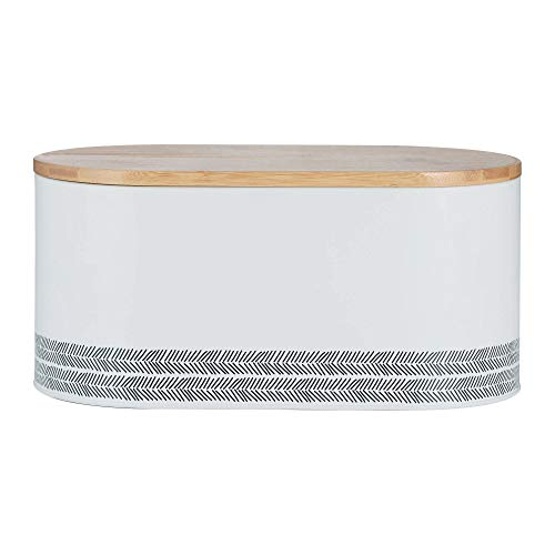 Typhoon Monochrome, weiß, 7,5 Liter Brotkasten, Karbonstahl, 34 x 17,5 x 16 cm