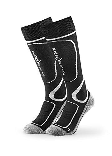 Black Crevice Paire de chaussettes de ski, Mixte, Chaussettes de ski, BCR1133-2-BW, noir/blanc, 39-42