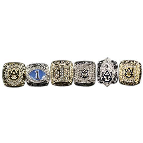 NCAA Auburn University Tigers Championship Ring Set Anillos de Campeonato Personalizado para Fanáticos Día de San Valentín,Without Box,11#