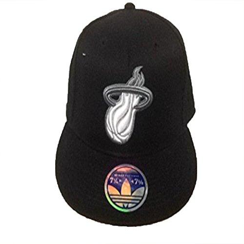 Adidas Miami Heat - Gorro con visera plana y logotipo de...