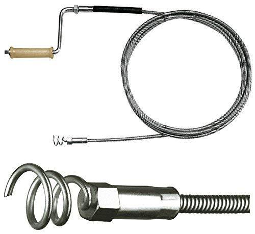 Rohrreinigungsspirale Ø 12mm x 10m, für Rohre ab DN 100mm, 40mm Bohrkopf, optionale Verlängerung, für Fallrohr, Regenrohr, Dachrinne, Abwasserkanal, Drainagen