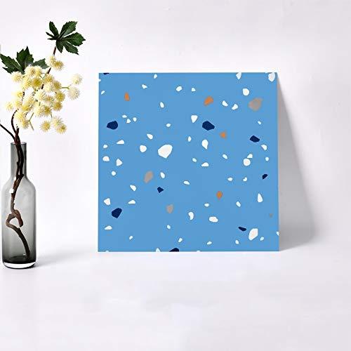 Etiqueta engomada de azulejo de terraza impermeable 3D extraíble autoadhesivo de pared de pared Pieles de pared Etiqueta engomada de la pared Decoración de baño ( Color : Blue white , Size : 5pcs )