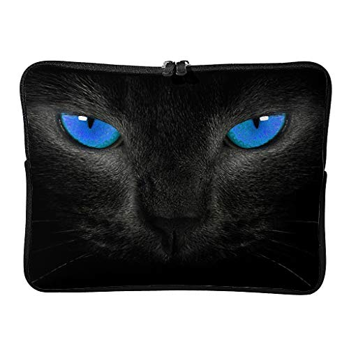 Standard Dragon Cat Face Laptop Bags Water Resistant Slim Tablet Protector Suitable for Indoor White 12 Zoll