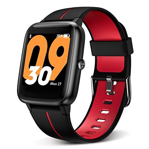 """BYTTRON Smartwatch Herren Damen, 1.3\"""" Touchscreen 5 ATM wasserdichte Fitness Tracker Built-in GPS Sport Uhr mit Herzfrequenz Schlafen Monitor Rufen Sie SMS Alert for Women Men Android iPhone (Black)"""