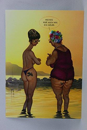 Postkarte A6 • 1452 \'\'Adler-Tattoo\'\' von Inkognito • Künstler: Gerhard Haderer • Satire