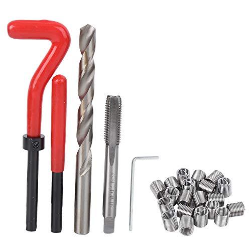 Reparación de roscas dañadas de metal, kit de reparación de roscas M10 de 25 piezas, broca de rosca, herramientas de reparación de roscas dañadas para Universal