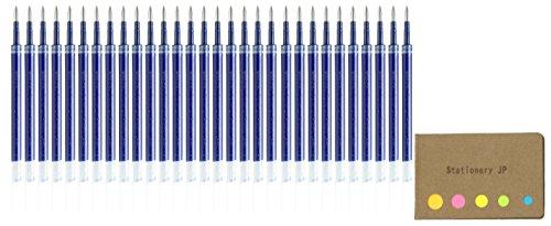 Uni-Ball UMR-85N Refills for Gel Ink Ballpoint Pen, 0.5mm, Blue Ink, 30-Pack, Sticky Notes Value Set