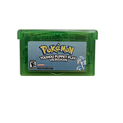 New Pokemon Touhou Puppet Play Version Reproduction Game Card Gameboy Advance Cartridge For GBM GBA SP NDS NDSL