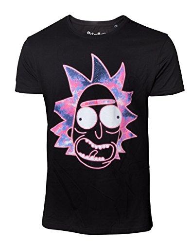 Gaya Entertainment - Camiseta Rick & Morty Neon Rick L, Multicolor