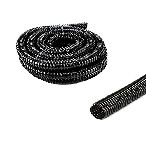 Pisces 1in (25mm) Corrugated Black Flexi-hose (by The Metre)